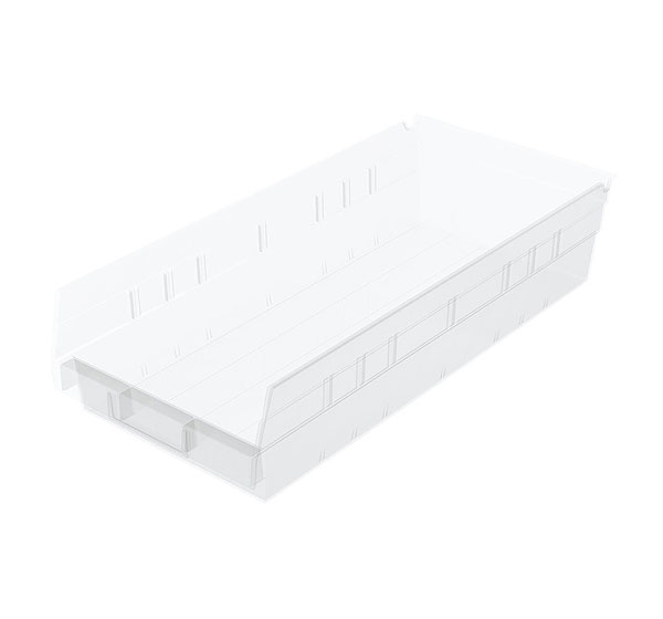 "ShelfMax 4"" Clear Bins"