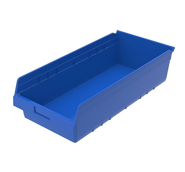 30014blue, Shelf Bin 23-5/8 x 11-1/8 x 6, Blue