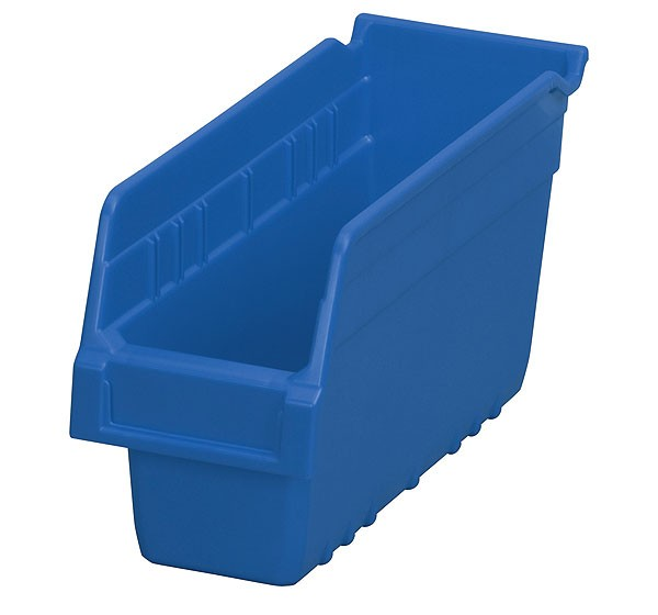 30040blue, Shelf Bin 11-5/8 x 4-1/8 x 6, Blue