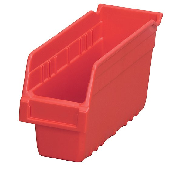 30040red, Shelf Bin 11-5/8 x 4-1/8 x 6, Red