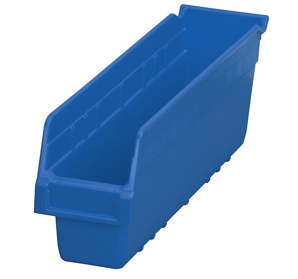 30048blue, Shelf Bin 17-7/8 x 4-1/8 x 6, Blue