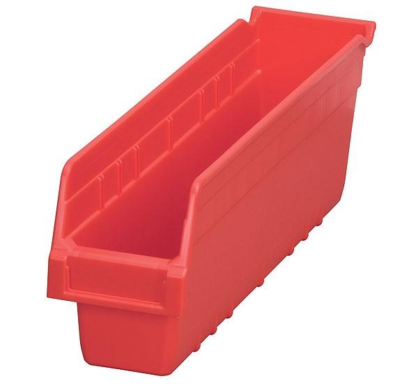 30048red, Shelf Bin 17-7/8 x 4-1/8 x 6, Red