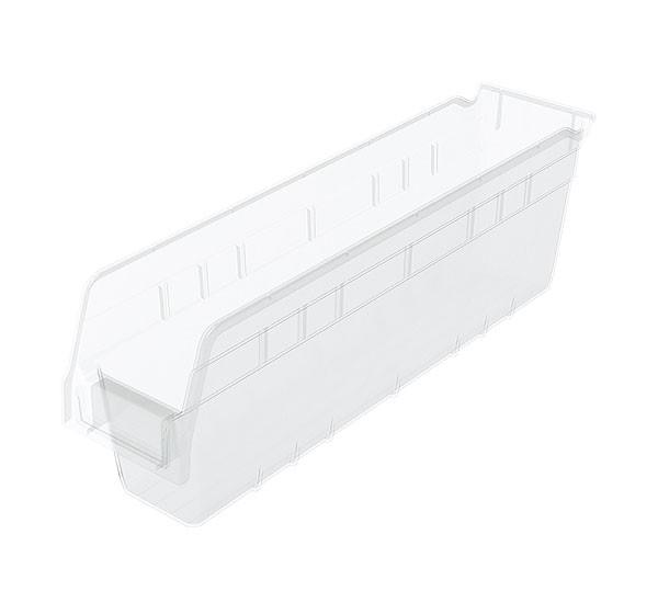 30048sclar, Shelf Bin 17-7/8 x 4-1/8 x 6, Clear
