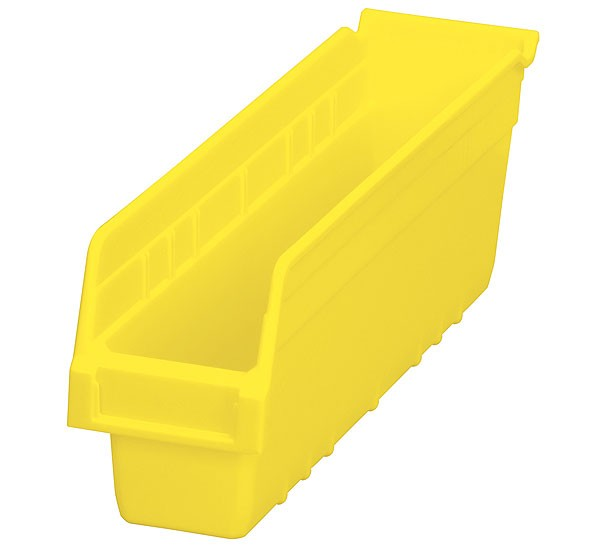 30048yello, Shelf Bin 17-7/8 x 4-1/8 x 6, Yellow