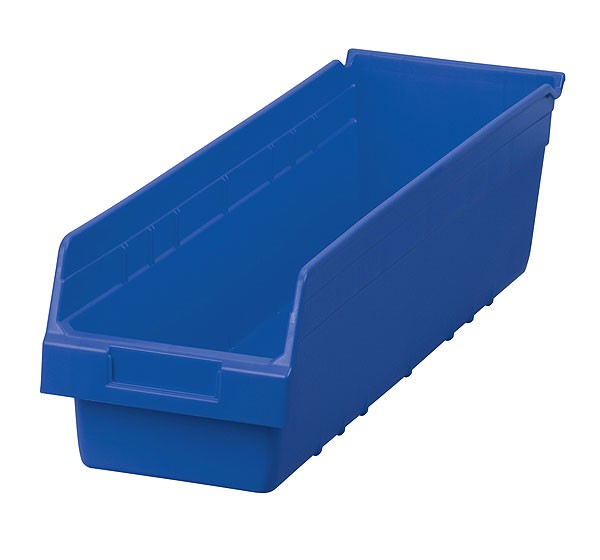 30094blue, Shelf Bin 23-5/8 x 6-5/8 x 6, Blue