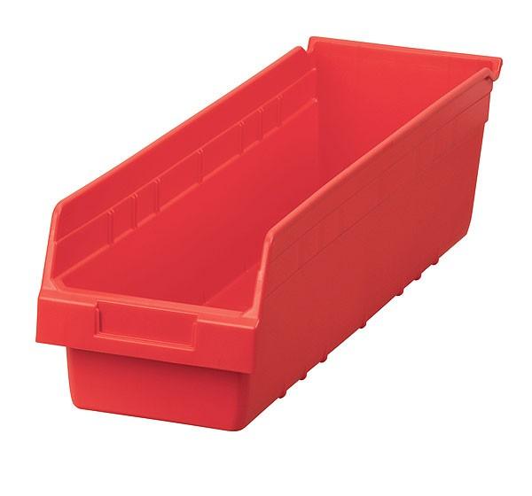 30094red, Shelf Bin 23-5/8 x 6-5/8 x 6, Red