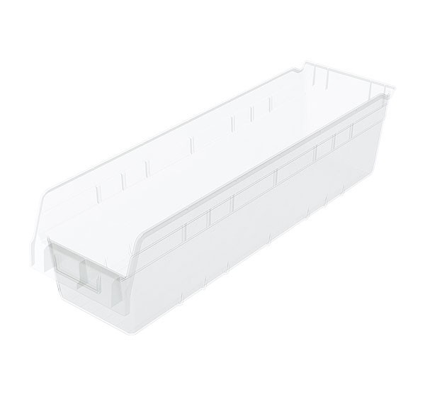 30094sclar, Shelf Bin 23-5/8 x 6-5/8 x 6, Clear
