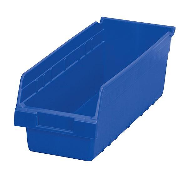 30098blue, Shelf Bin 17-7/8 x 6-5/8 x 6, Blue