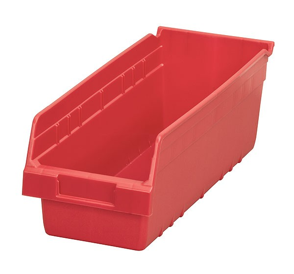 30098red, Shelf Bin 17-7/8 x 6-5/8 x 6, Red