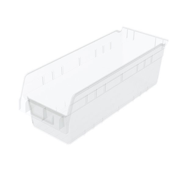 30098sclar, Shelf Bin 17-7/8 x 6-5/8 x 6, Clear