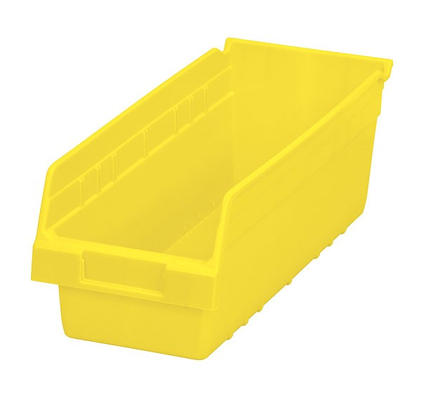30098yello, Shelf Bin 17-7/8 x 6-5/8 x 6, Yellow