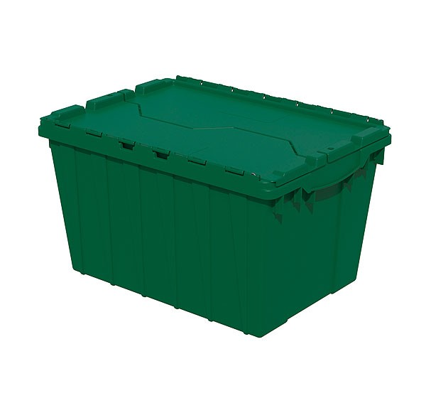 Akro 39120 Green Attached Lid Container