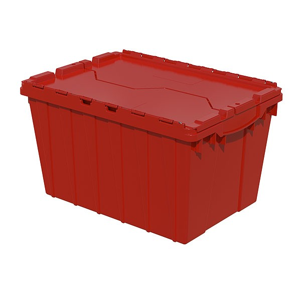 Akro 39120 Red Attached Lid Container
