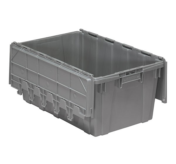Akro 39160 Grey Attached Lid Container
