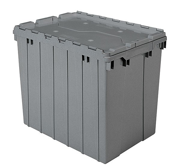 Akro 39170 Grey Attached Lid Container