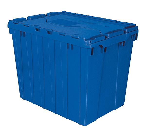 Akro 39170 Blue Attached Lid Container